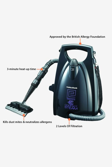 Morphy Richards Essentials Compact Steam Cleaner Black