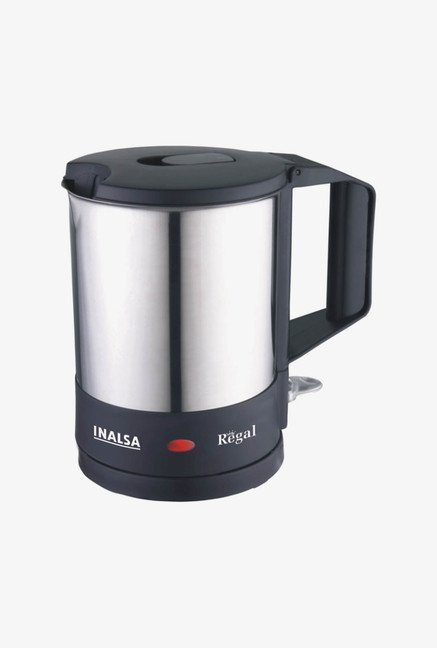 Inalsa Regal 1 Ltr Electric Kettle Black & Sliver