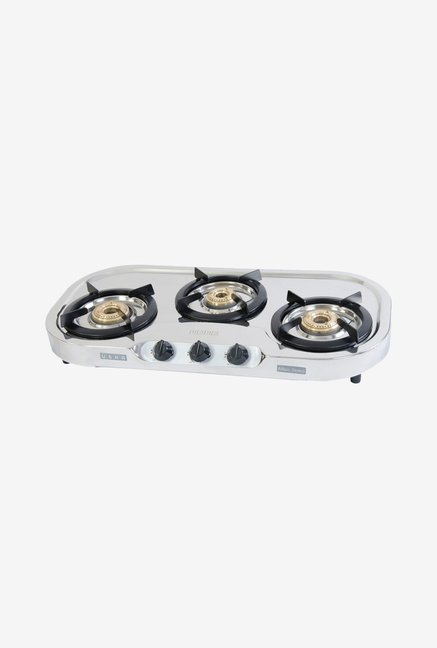 Usha Allure GS3001 3 Burners Gas Cooktop Stainless Steel