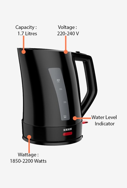 Usha EK3317 1.7 Litre Electric Kettle Black
