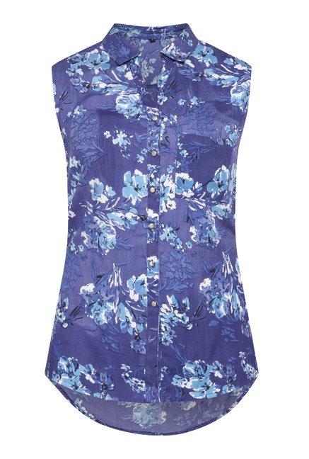 Zudio Blue Floral Printed Blouse