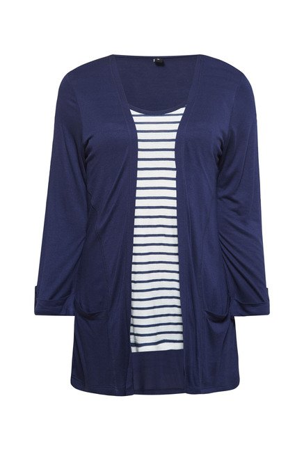 Zudio Navy Bonie Striped Top