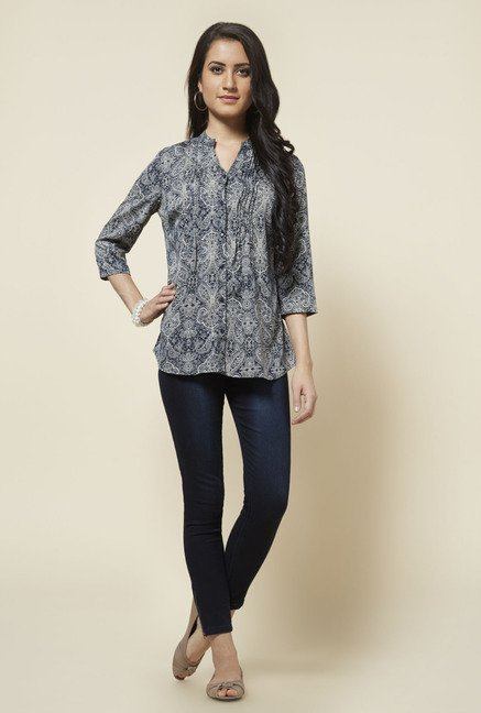 Zudio Grey Isabel Printed Blouse