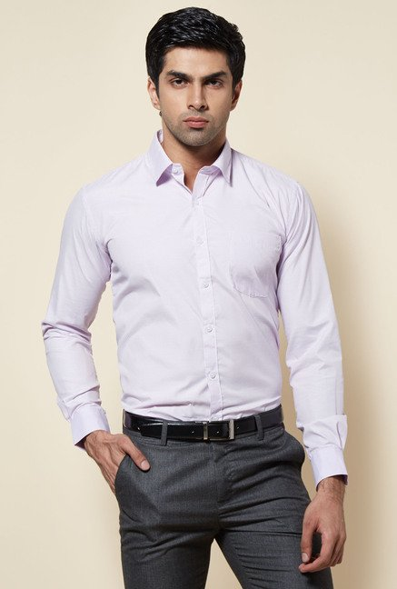 Zudio Purple Pin Striped Shirt