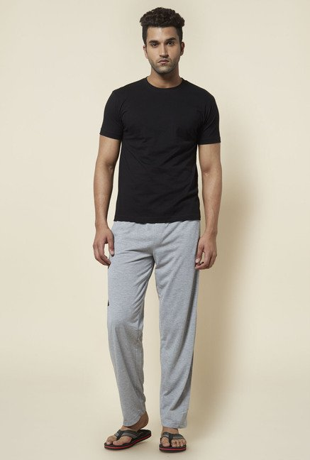 Zudio Grey Solid Trackpant