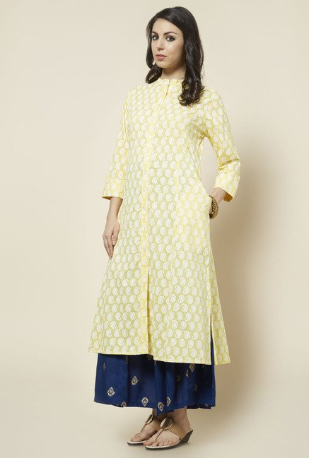 Zudio Yellow Paisley Printed Kurta