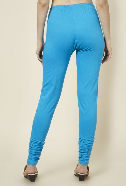Zudio Turquoise Solid Leggings