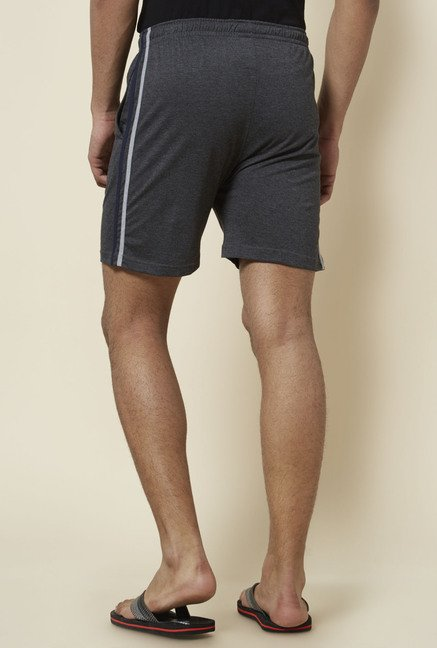 Zudio Dark Grey Solid Shorts
