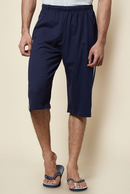 Zudio Navy 3/4th Cotton Capri