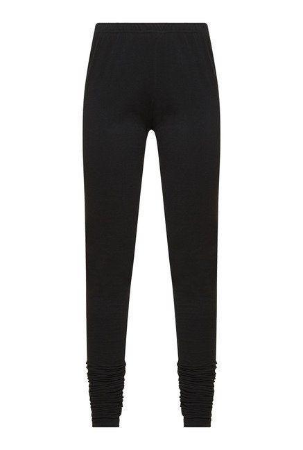 Zudio Black Solid Leggings