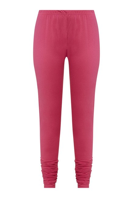 Zudio Fuchsia Solid Leggings