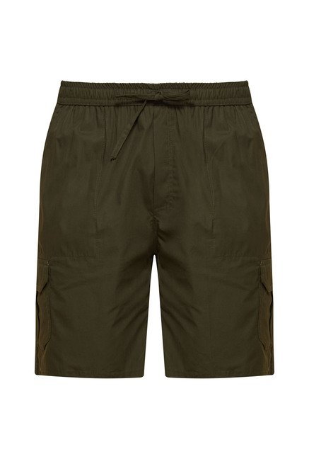 Zudio Olive Solid Shorts