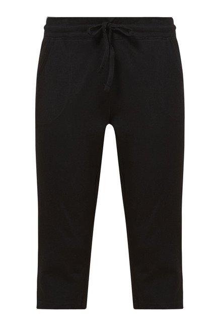 Zudio Black Solid Capris