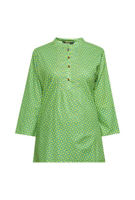 Zudio Green Printed Short Kurti