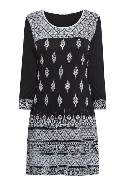 Zudio Black Printed Kurta