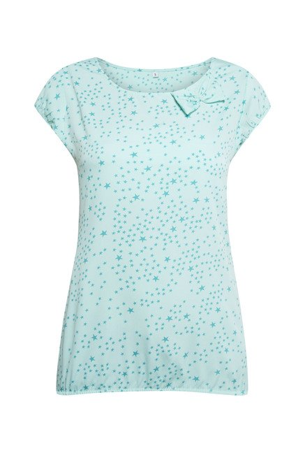 Zudio Aqua Printed Blouse