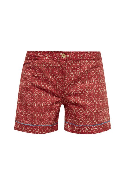 Zudio Red Printed Shorts