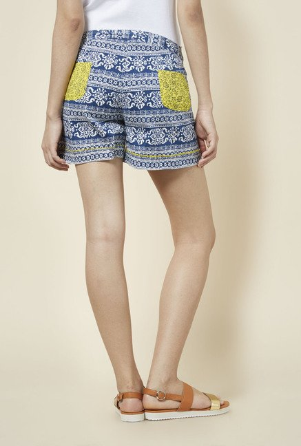 Zudio Blue Printed Shorts