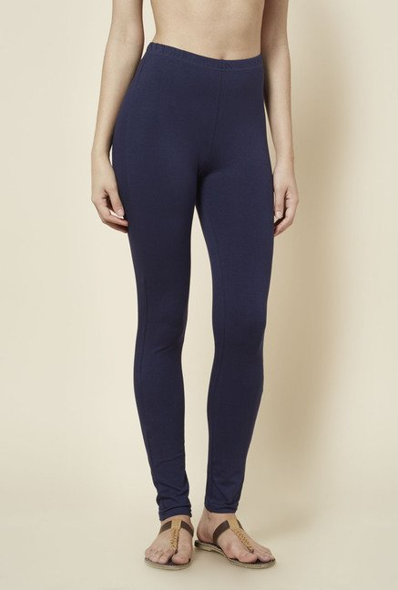 Zudio Navy Solid Leggings