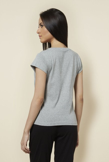 Zudio Grey Solid T Shirt