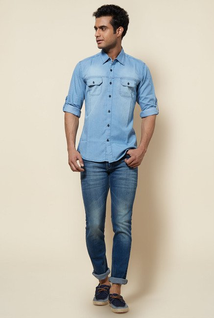 Zudio Blue Denim Shirt