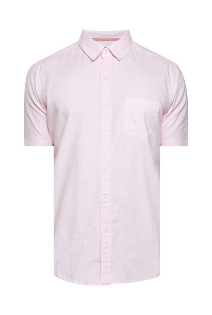 Zudio Pink Solid Shirt