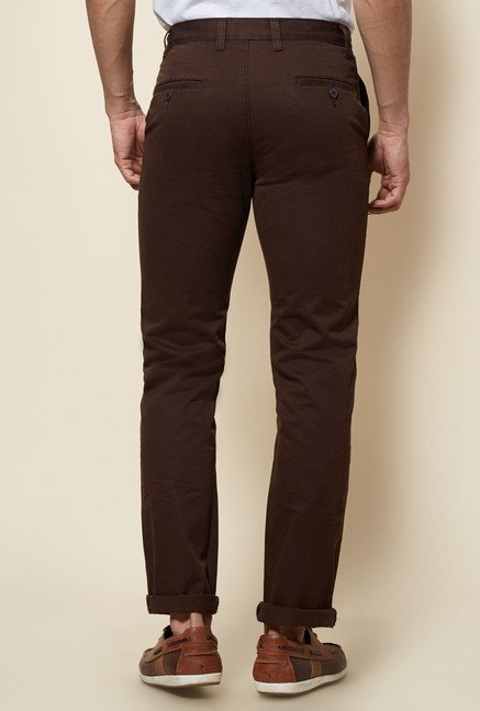 Zudio Brown Solid Trouser