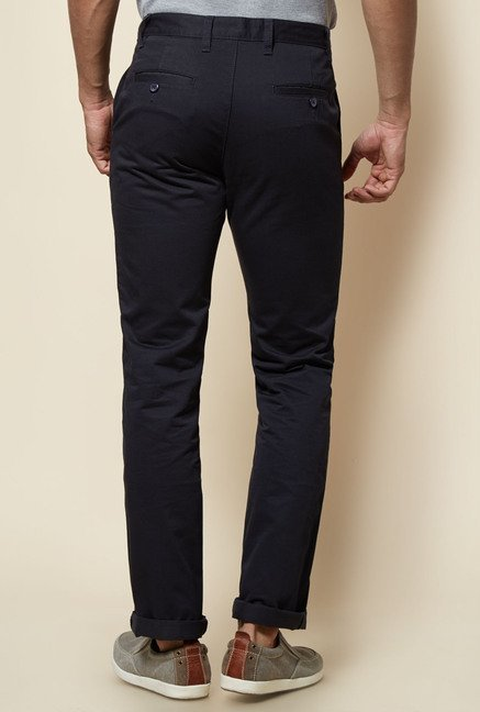 Zudio Navy Solid Trouser