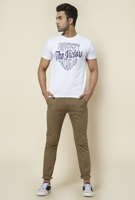Zudio Beige Cotton Chinos