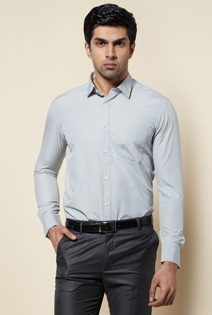 Zudio Grey Solid Shirt