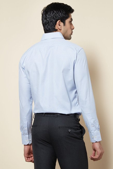 Zudio Light Blue Checks Shirt