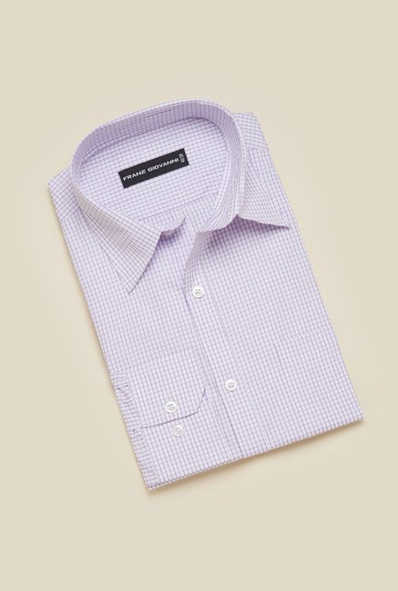 Zudio Purple Checks Shirt