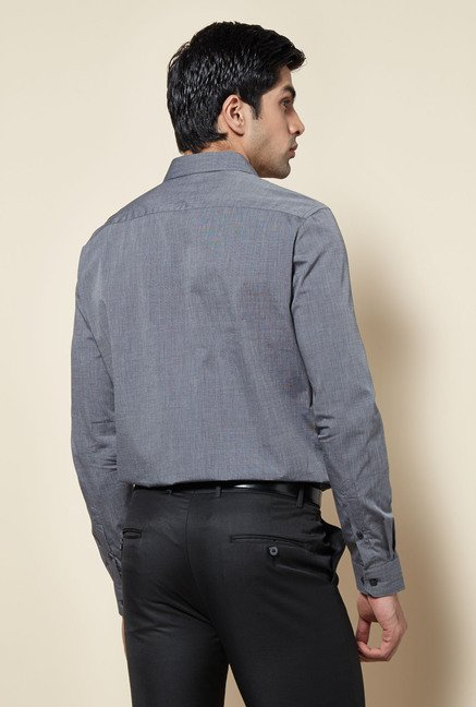 Zudio Dark Grey Solid Shirt