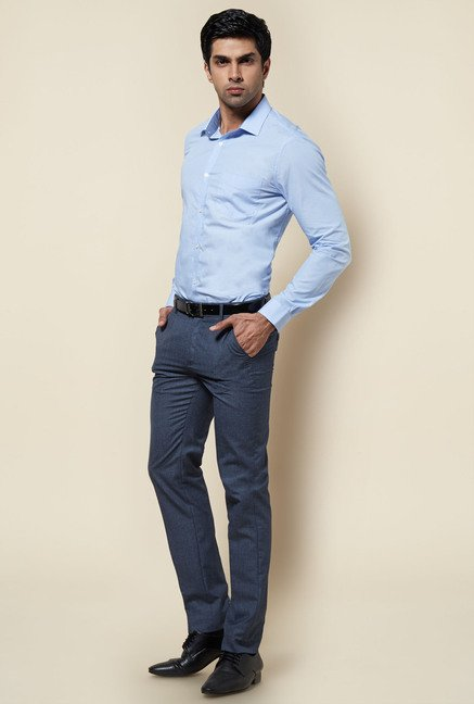 Zudio Light Blue Solid Shirt
