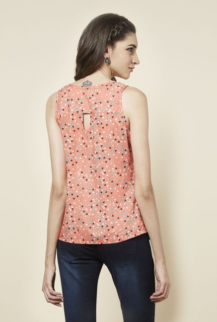 Zudio Orange Printed Blouse