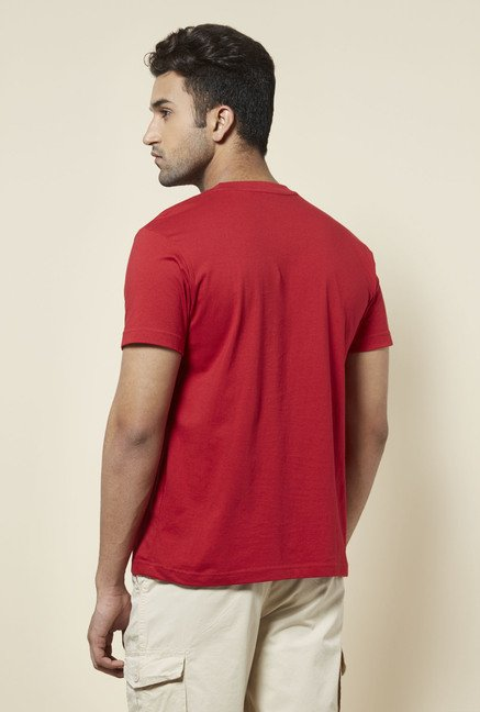 Zudio Red Anchor Print T Shirt
