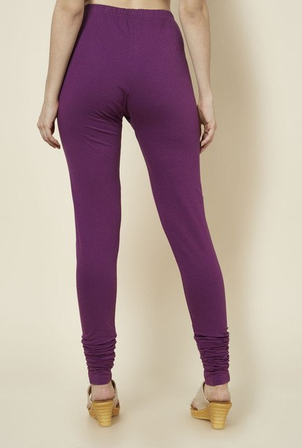 Zudio Purple Solid Leggings