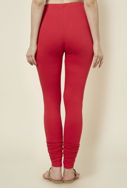 Zudio Red Solid Leggings
