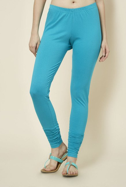 Zudio Teal Solid Leggings