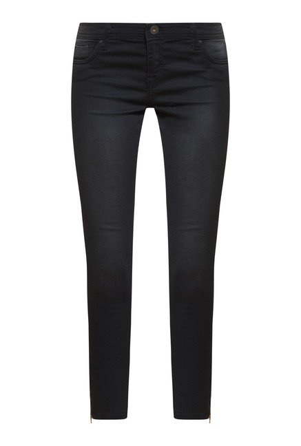 Zudio Black Skinny Fit Denim Jeans