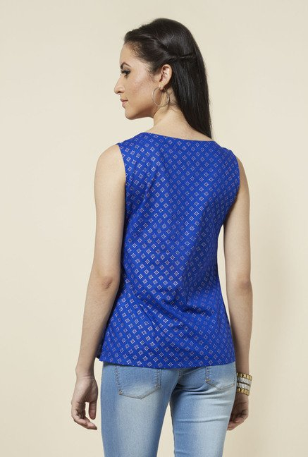 Zudio Indigo Printed Top