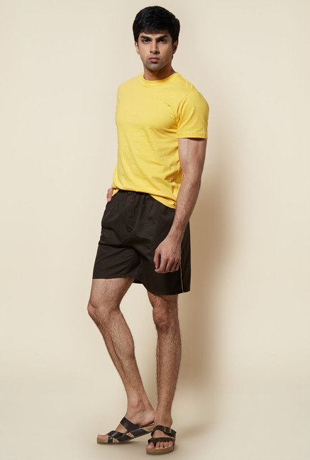 Zudio Yellow Solid T Shirt