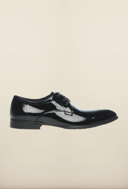 Pavers England Black Derby Shoes