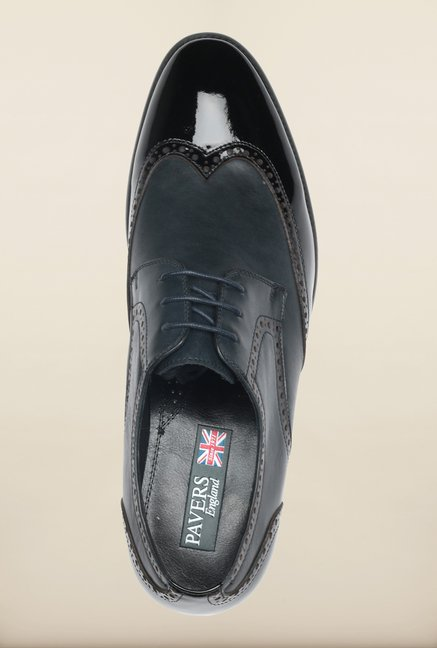 Pavers England Navy Brogue Shoes