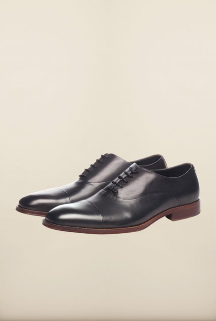 Pavers England Black Oxford Shoes