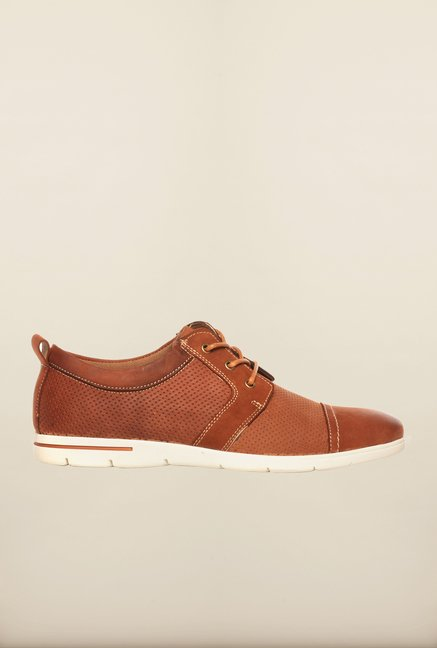 Pavers England Tan Oxford Shoes