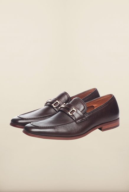 Pavers England Brown Formal Slip-Ons