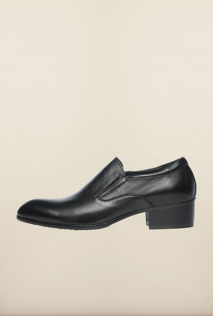 Pavers England Black Formal Slip-Ons