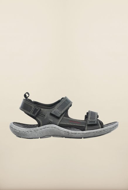 Pavers England Black Floater Sandals