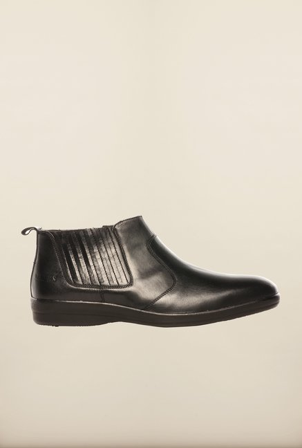 Pavers England Black Chelsea Boots
